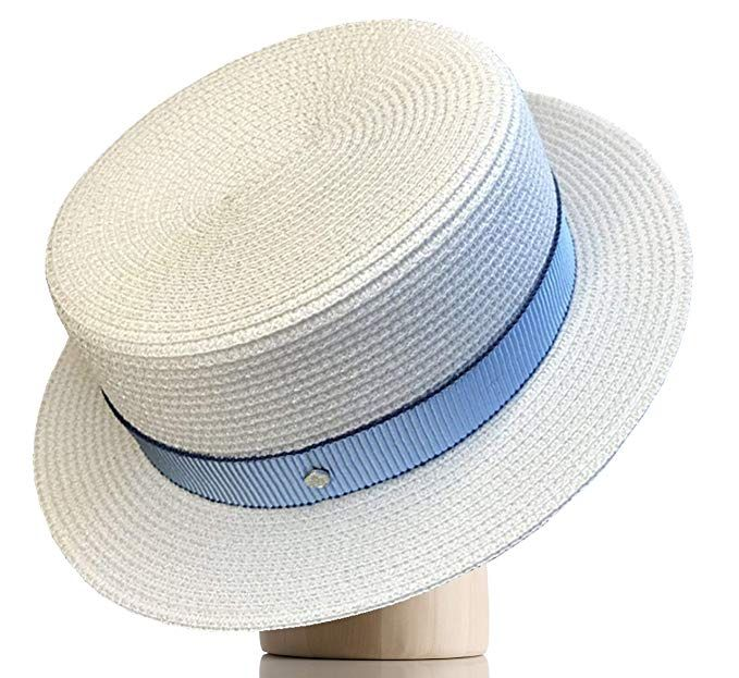 e7c3bbdb9b7 Melniko City Women s Straw Boater Hat Roaring 20s Retro Sunhat Review