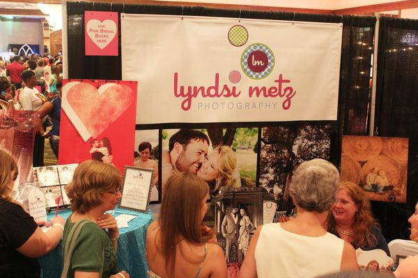 Brides and their groups interact at the Memphis Pink Bridal Show, Summer 2014 | The Pink Bride www.thepinkbride.com