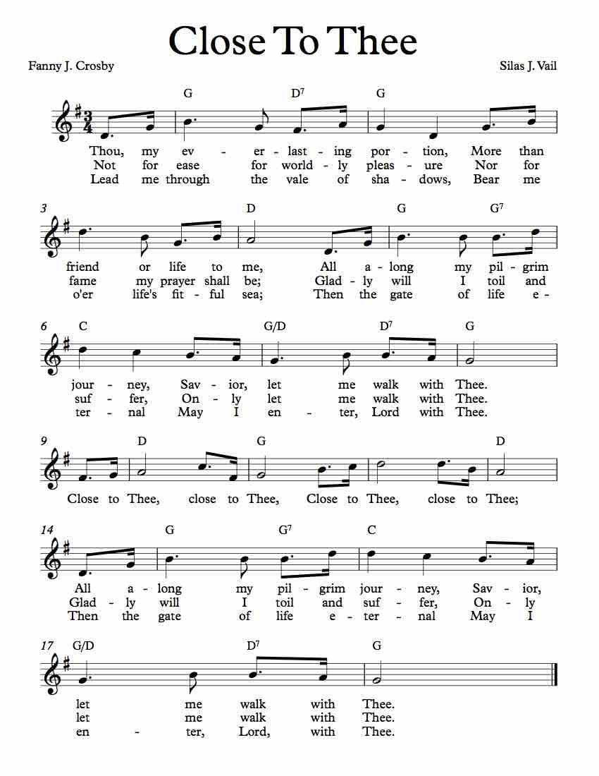 Free Lead Sheet Close To Thee Hymn Music Jazz Sheet Music Spiritual Songs