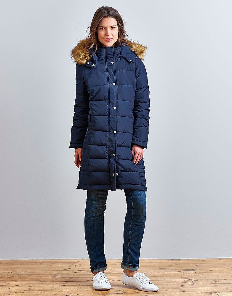 nice crew clothing long down coat | 2016/17 new season long puffer ...