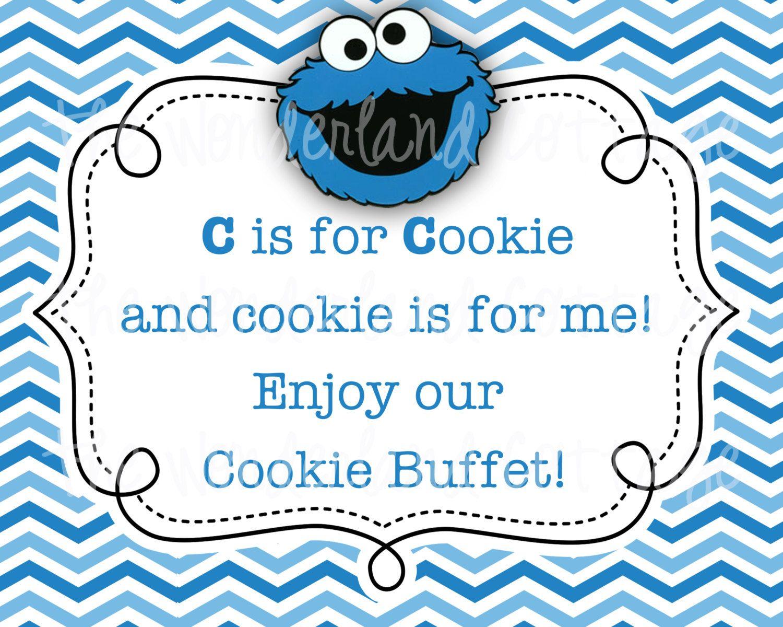Sesame Street Cookie Monster Sign | Bree\'s Birthday | Pinterest ...