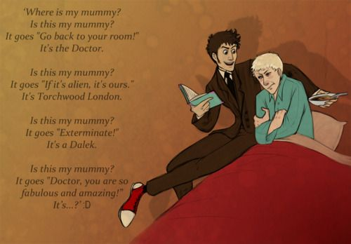 """Doctor Who/Discworld crossover: I'm so happy I could squee. (Have you read the actual """"Where's My Cow?"""" children's book? Very sweet and the illustrations are phenomenal.)"""