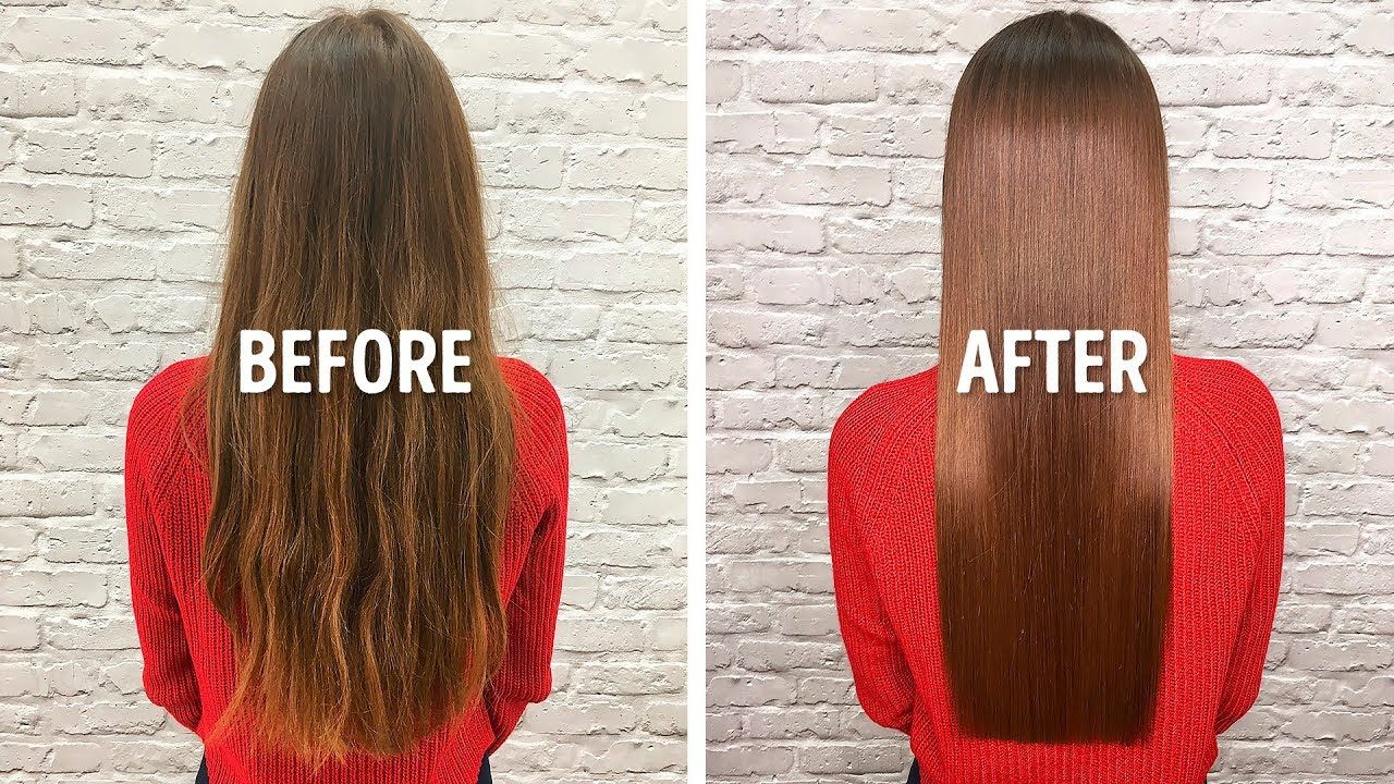 I Straightened My Hair With 1 Easy Homemade Remedy In 2020 Soften Hair Chemically Straightened Hair Natural Hair Softener