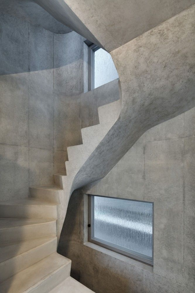 Gallery Of A House Wiel Arets Architects 6 Escalier Beton