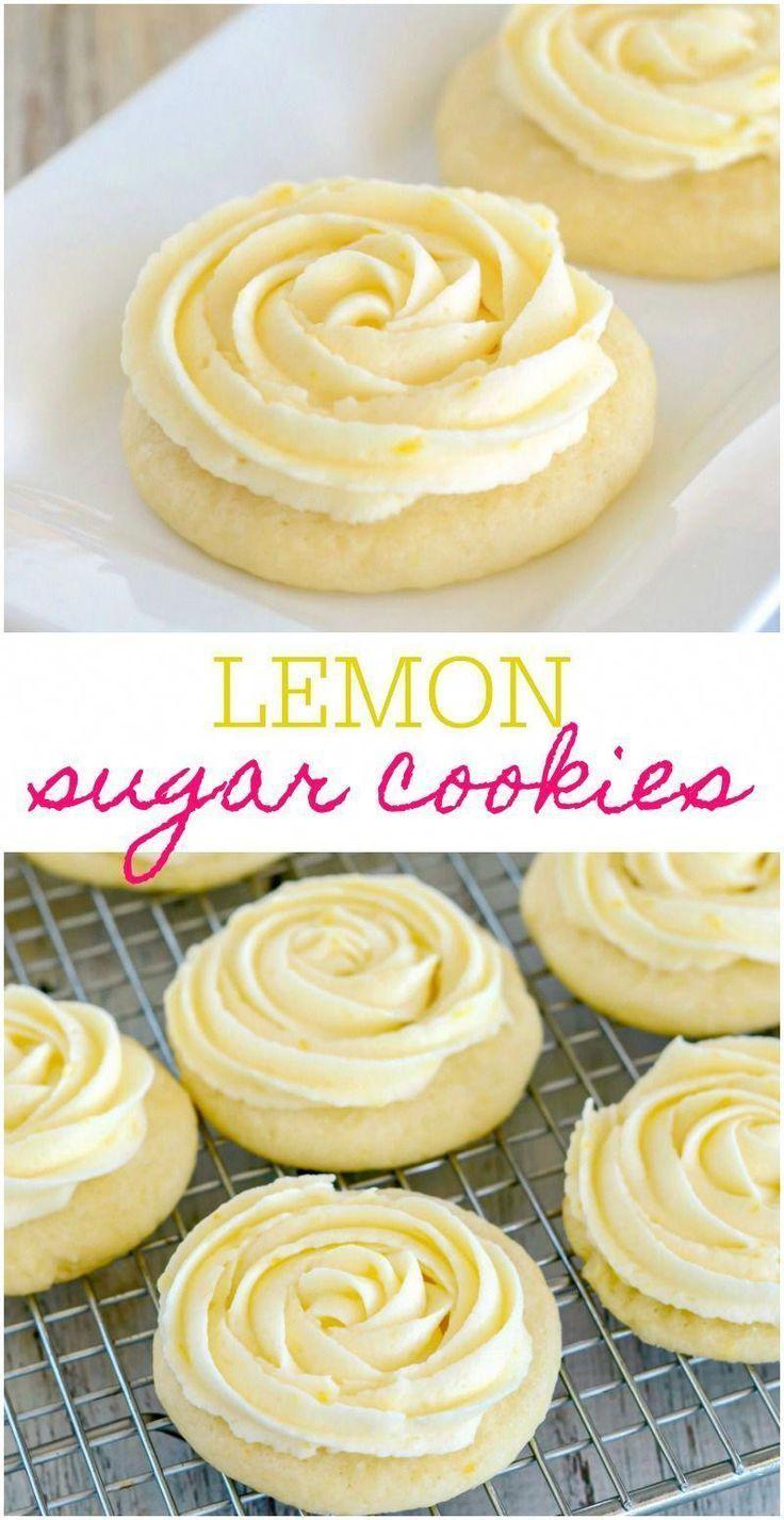 Lemon Sugar Cookies with Lemon Buttercream Frosting | Lil' Luna