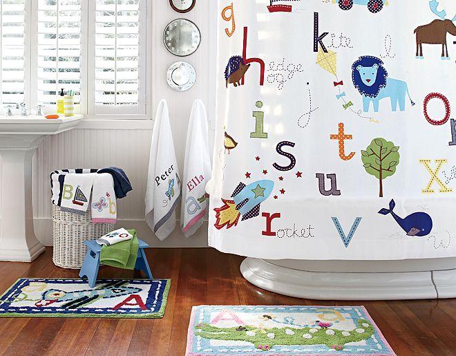terrific related attractive boys bathroom ideas | ABC Bathroom | Pottery Barn Kids - love this bathroom ...
