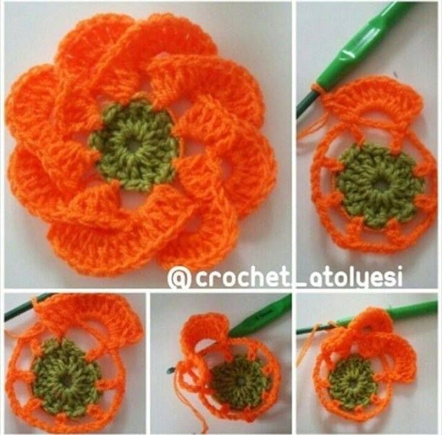 50 Crochet Flowers Diagrams Crochet Flowers Pinterest