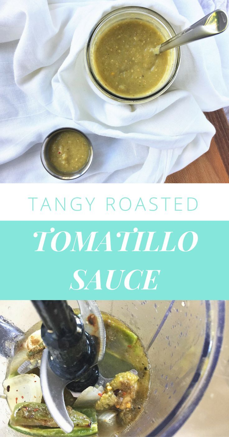 Tangy, roasted tomatillo sauce | Tangier, Dipping sauces and Quesadillas