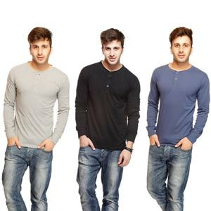Pack Of 3 Gritstones Round Neck T Shirts Deal At Just Rs 999