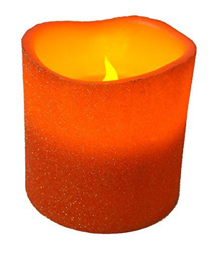 Timer Everlasting Glow LED Indoor//Outdoor Candle Bisque 4.5 x 9