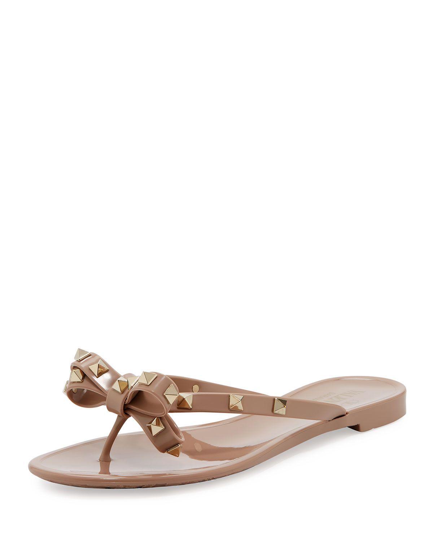 ed438ae8c606 Valentino jelly PVC sandal with signature pyramid Rockstuds. 0.5