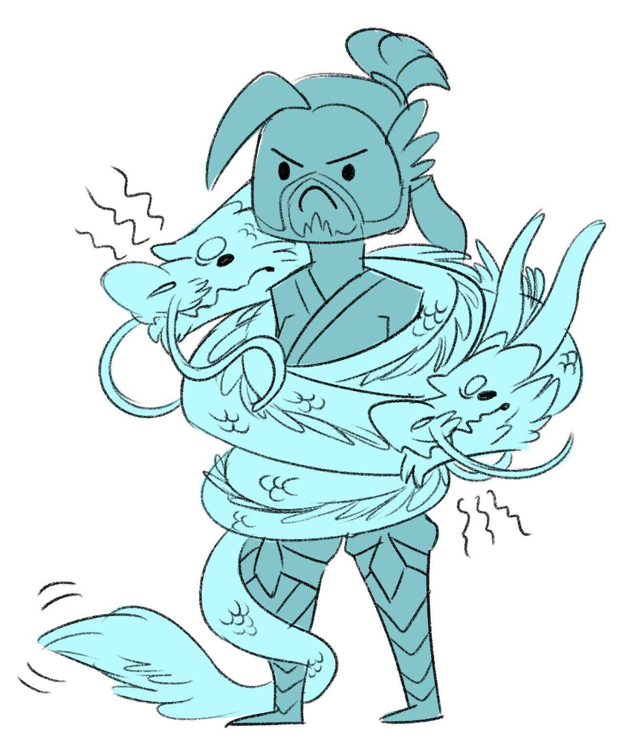 angry Shimada dragon growling* | the squad | Overwatch dragons