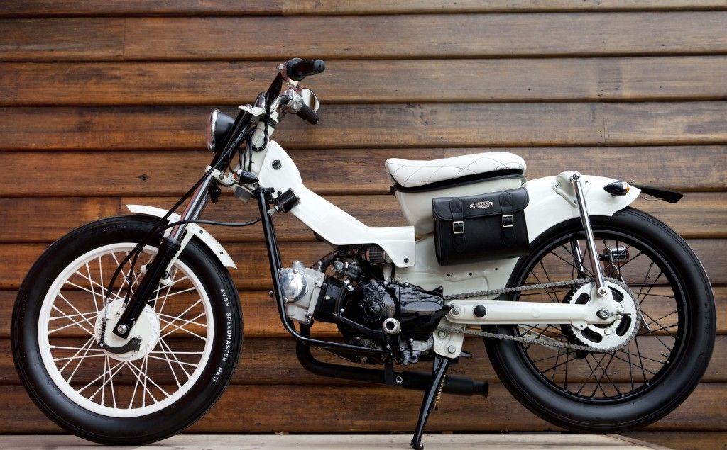Two Tone Down Swept Exhaust Honda C Pinterest Exhausted -  custom motorcycle