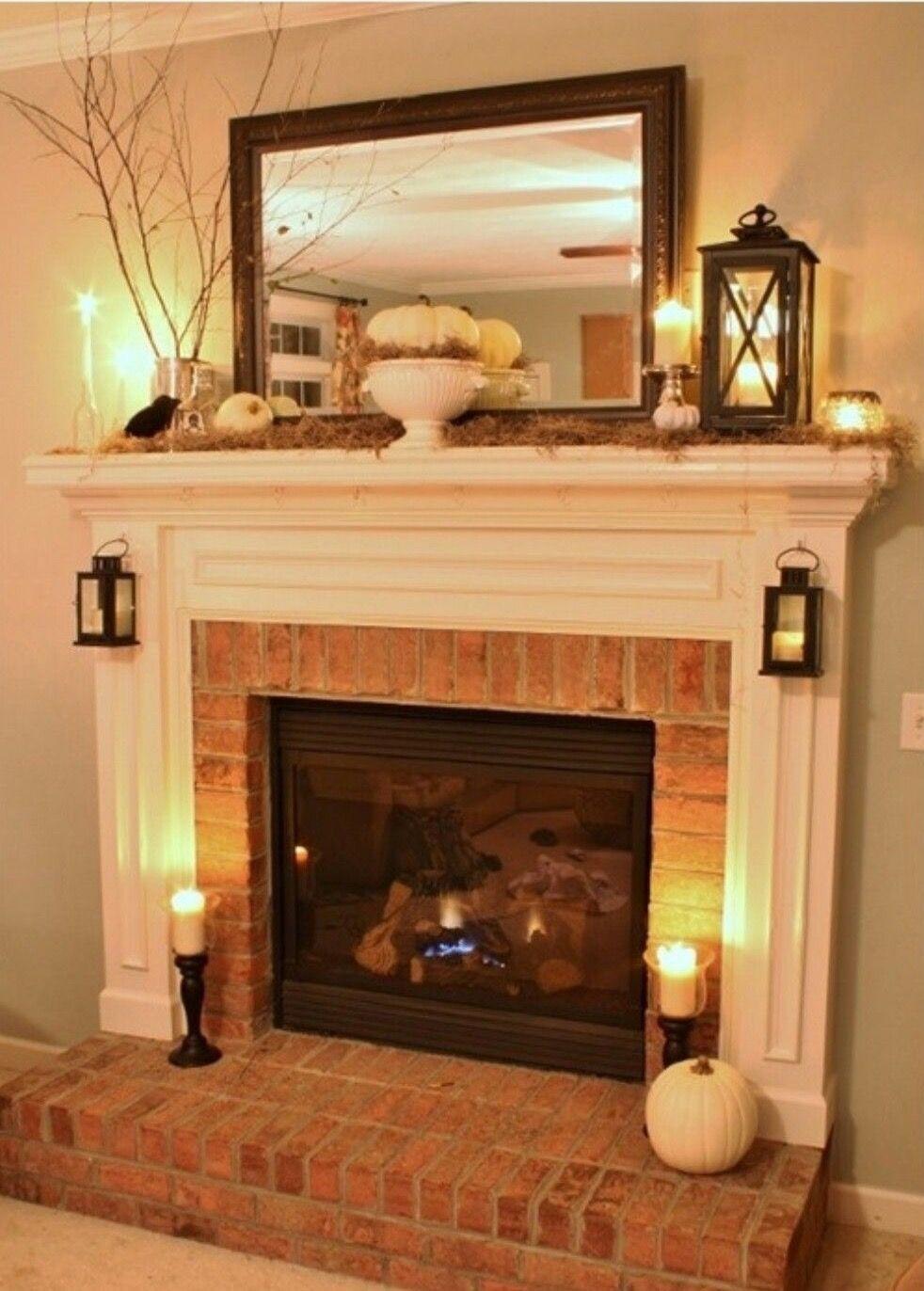 Tile Not Brick Trish Brick Fireplace Makeover Home Home Living Room