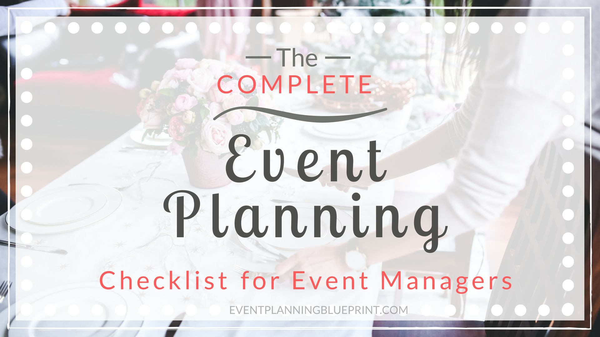 Plan a successful event of any type with this complete