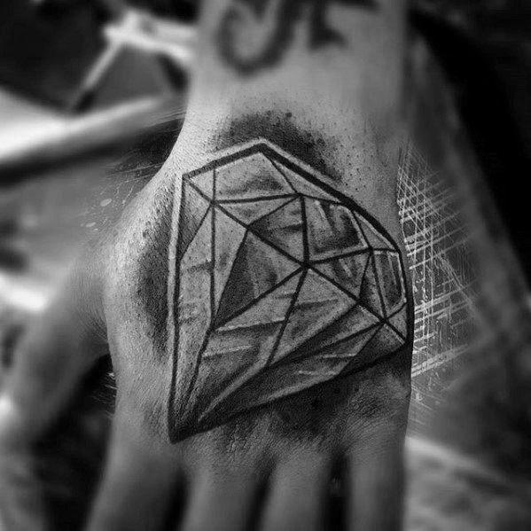 50 Traditional Diamond Tattoo Designs For Men - Jewel Ink ...