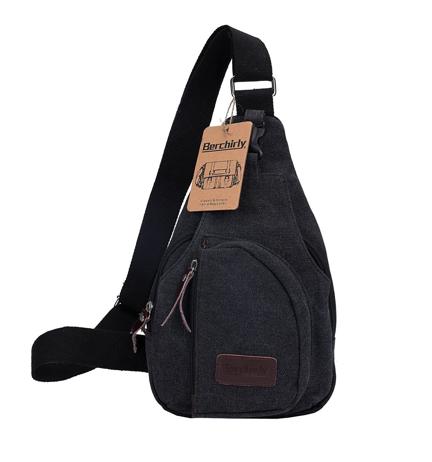 Mens Canvas Casual Bag Pack Outdoor Cross Body Messenger Shoulder Sling Ches BD