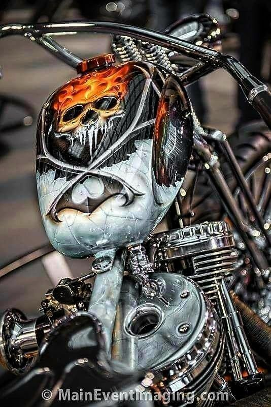 | Old School Vintage ...   - Harley Davidson Bobbers & More Motorcycles -Benutzerdefinierte Paintjo