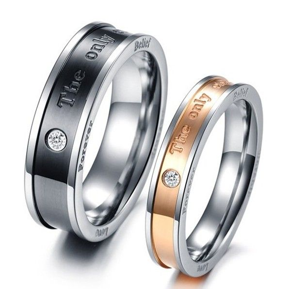 Stunning The Only Enternal Love Lover S Titanium Ring Price For A Pair Couple Wedding Rings Rings For Men Stainless Steel Wedding Bands