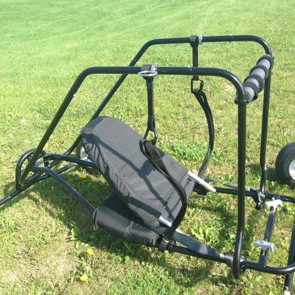 Powered Paragliding paramotor Chrome wheels, Mustang