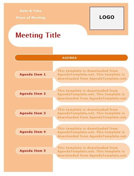 Monthly Meeting Agenda Stationary Templates Pinterest