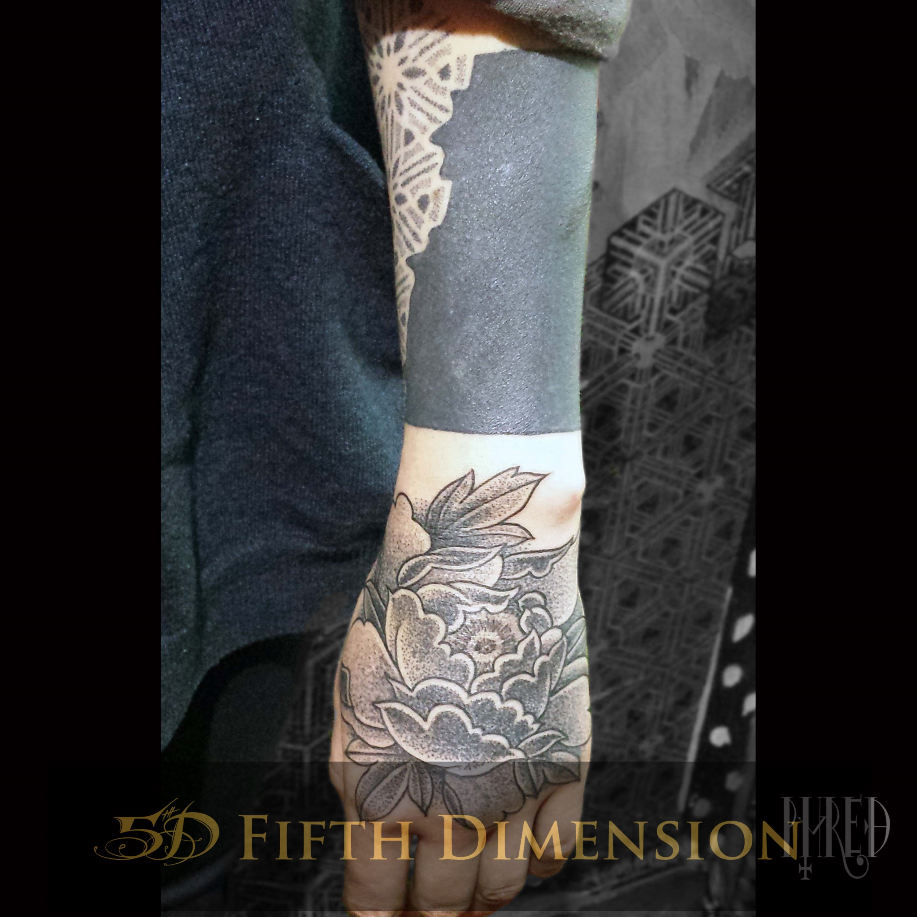 Tattoo By Phred Blackout And Rose Londontattoo Blackandgreytattoo Dotworktattoo Eastlondon Shoreditch London Tattoo Vegan Tattoo Black And Grey Tattoos