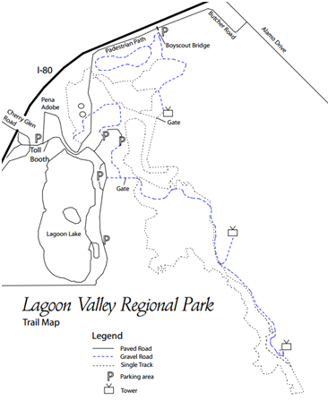 Lagoon Valley Park Trail Map