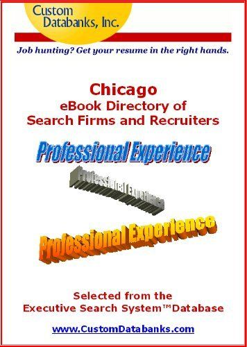 Chicago eBook Directory of Search Firms and Recruiters (Job - author resume