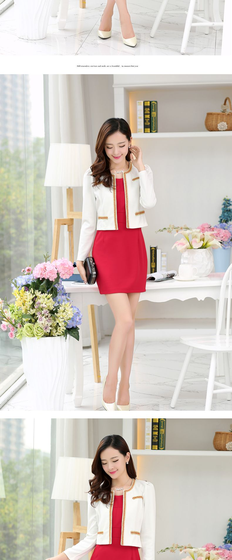 70f226454f541 free shipping spring fall fashion OL women clothes set office ...