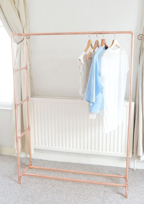 Our copper clothes rail is something special because the copper is is part of Clothes Rack Boho -  Our copper clothes rail is special because the copper is treated with a varnish  Copper naturally