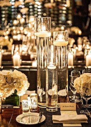 40 Chic Romantic Wedding Ideas Using Candles Reception Pinterest
