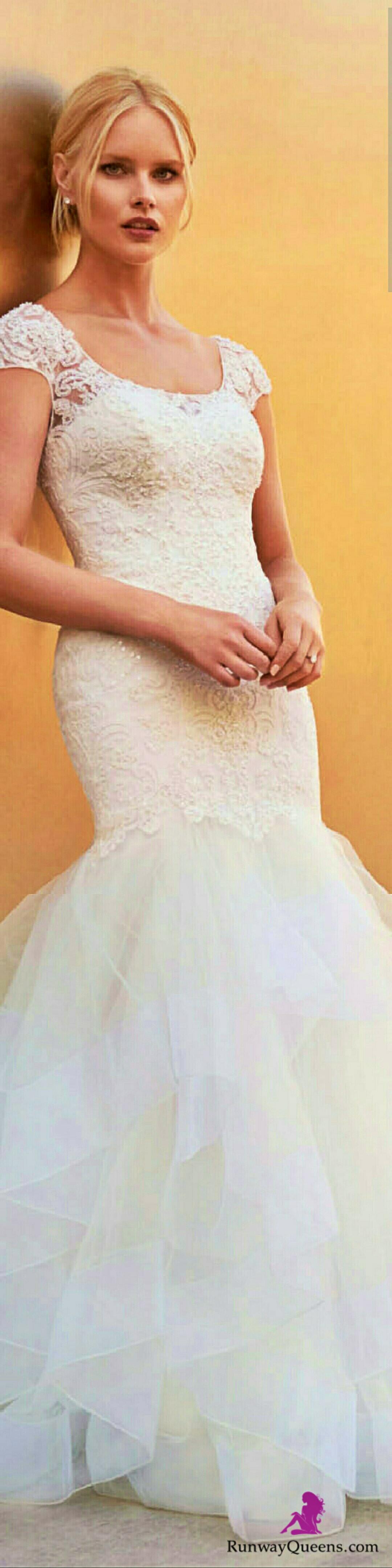 Oleg Cassini, David's Bridal, 2017, Bridal, white ...