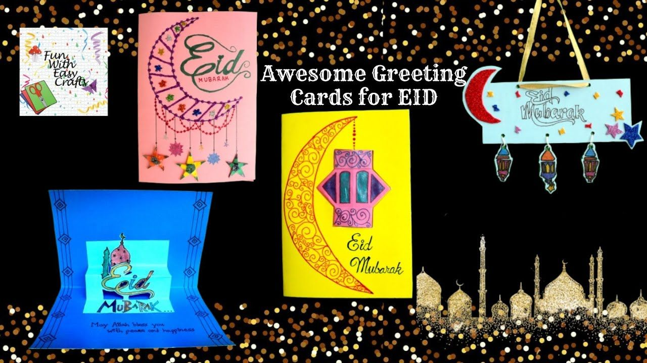 awesome diy greeting card design specially for eid