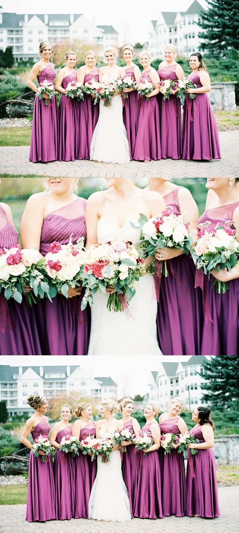 Must have bridesmaid dresses, spring florals, purple bridesmaids dress, Wisconsin wedding