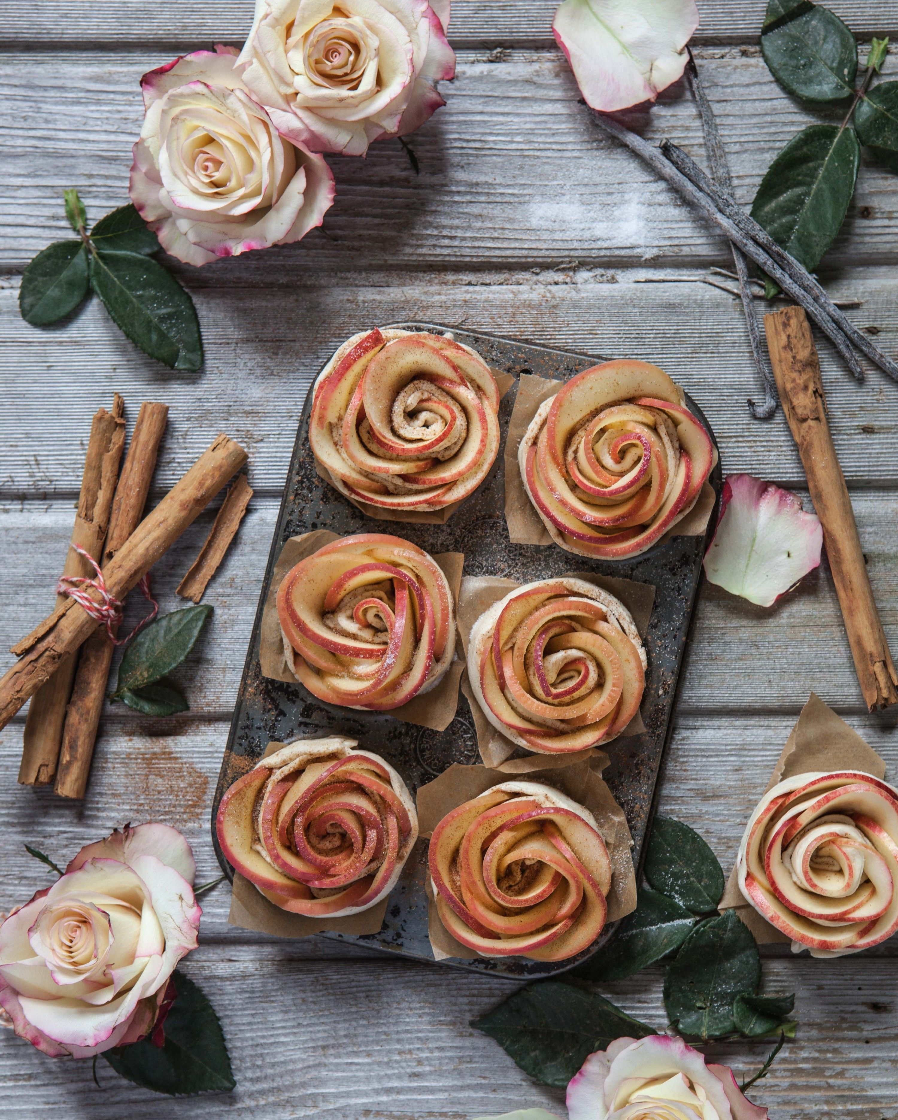 Pink Lady Apple Roses in Puff Pastry Recipe in 2020 Rose recipes, Puff pastry recipes, Apple