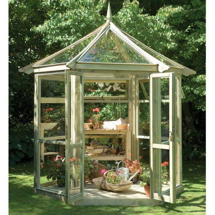 Pretty octagon greenhouses invernadero invernadero casero jardiner a - Invernadero casero terraza ...