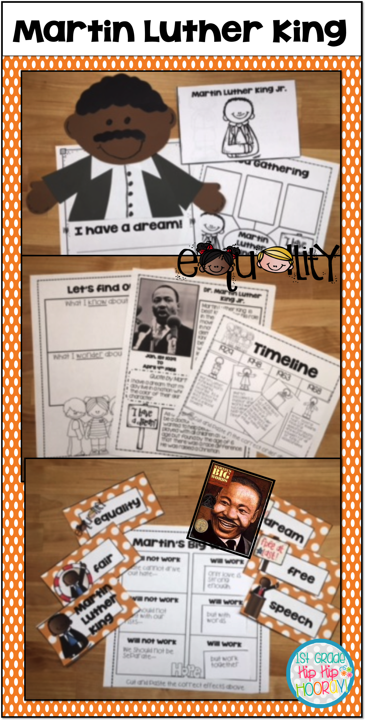 Martin Luther King Jr For The Primary Child Tivities