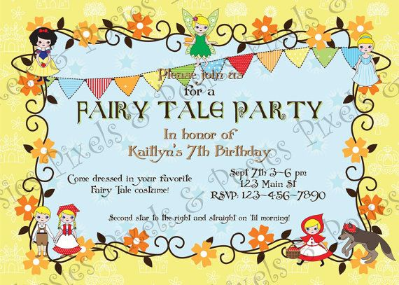Custom printable party invitation print your own fairy tale items similar to custom printable party invitation print your own fairy tale birthday costume party invitation on etsy filmwisefo Image collections