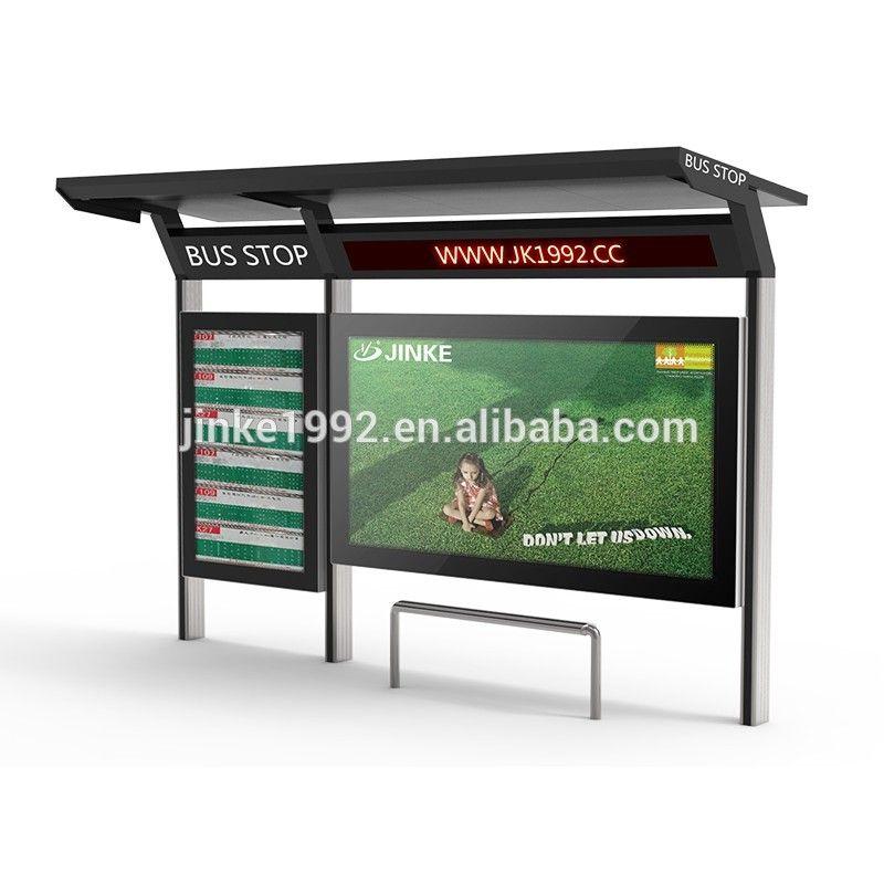 JINKE Modern Bus Station Shelter Design Stainless Steel