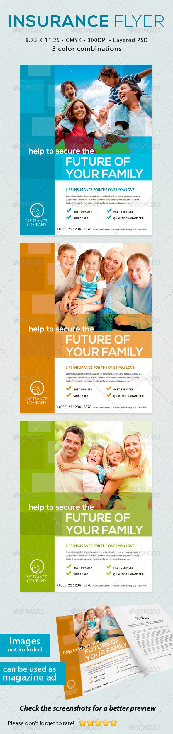 insurance flyer colors the o jays and microsoft insurance flyer graphicriver insurance flyer print ad this flyer can be used in any