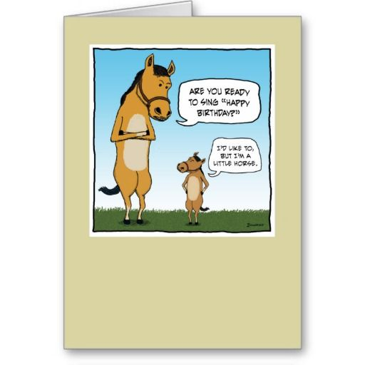 Funny Birthday Card Little Horse Funny Birthday Cards Birthday Humor Happy Birthday Funny Ecards