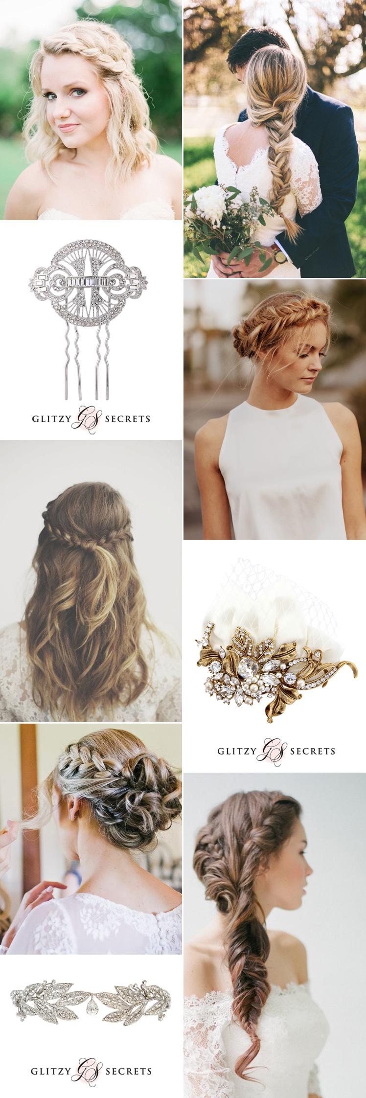 Hair Accessories to Bejewel Your Bridal Braids | Bridal braids, Hair ...