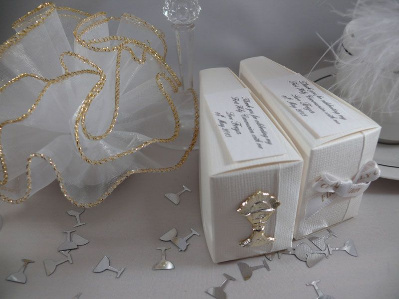 Cake slice boxes for first holy communion cake slice