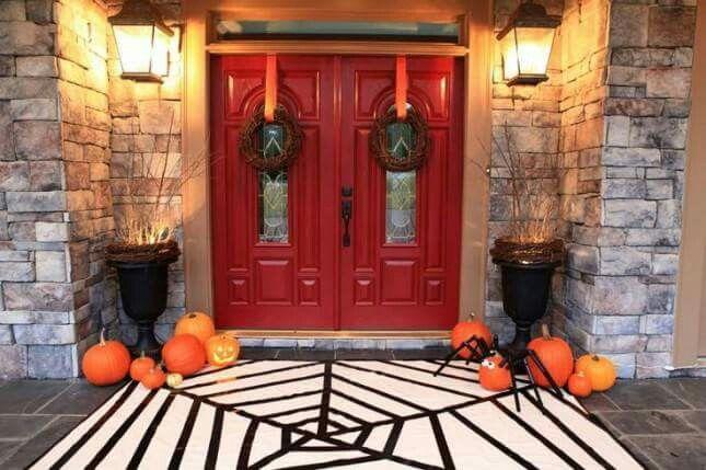 Love the spider web carpet! Halloween Decor Pinterest Spider webs - spider web halloween decoration