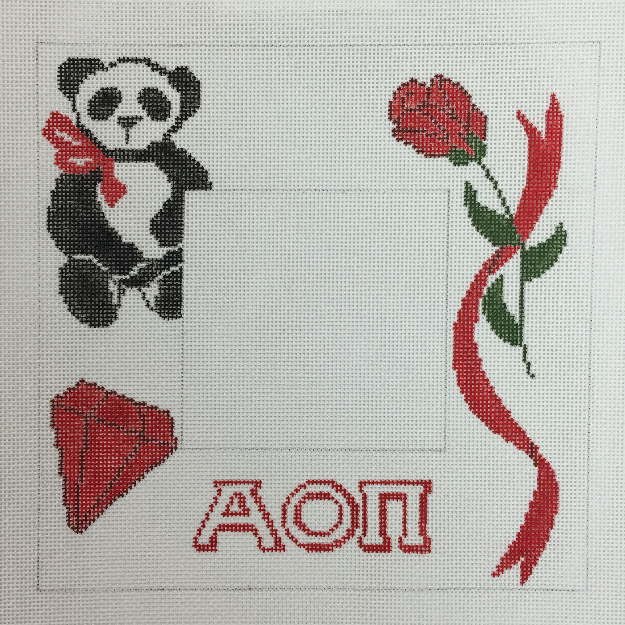 Alpha Omicron Pi Picture Frame needlepoint canvas | Products ...