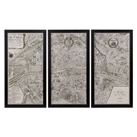 Elegant Wall Art vintage paris map wall art. really simple and elegant. would be