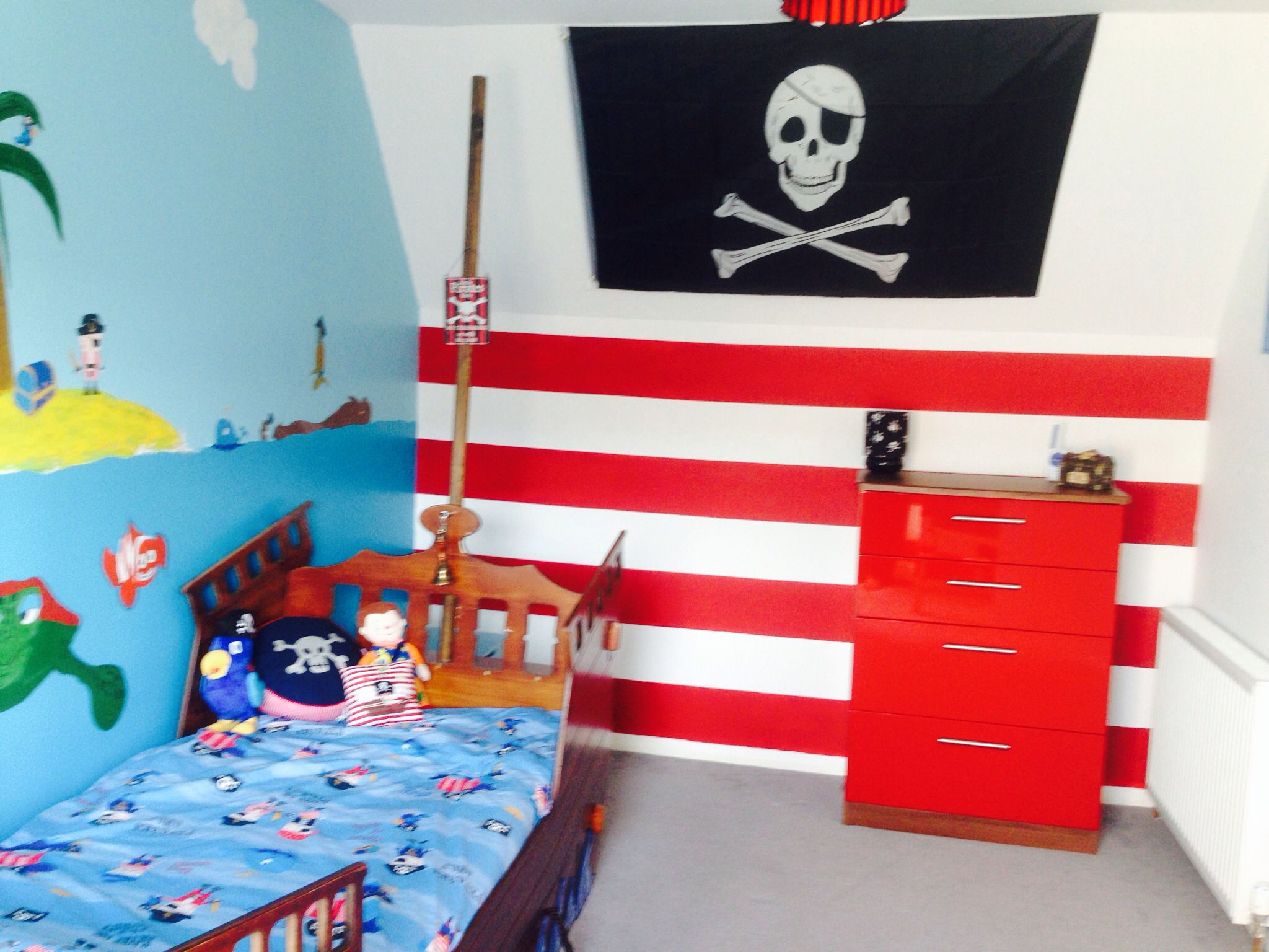 chuffed with riley's pirate bedroom | big boy bedrooms