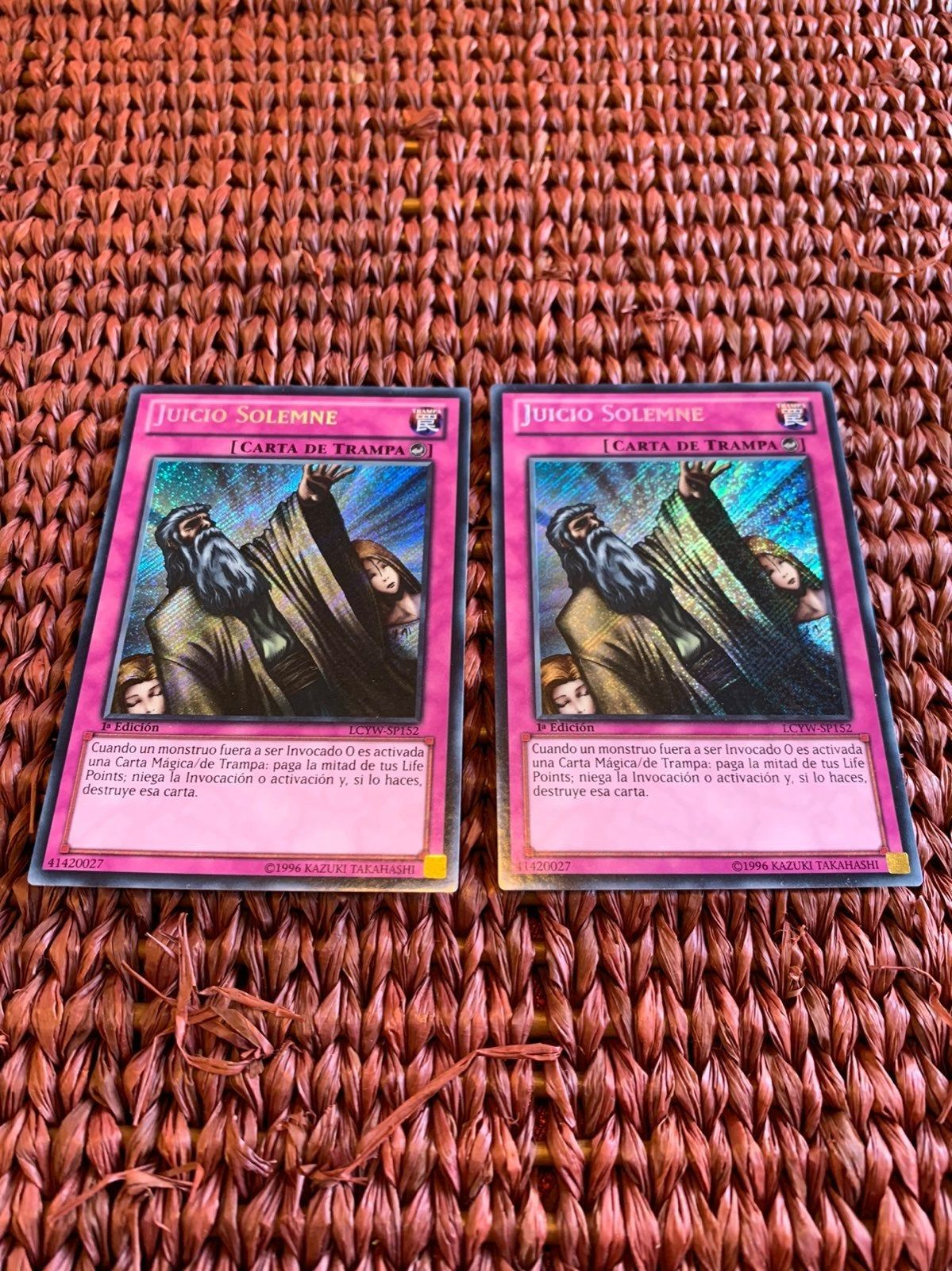 Yugioh Solemn Judgment Secret Rare Lcyw Sp152 Spanish 1st Edition
