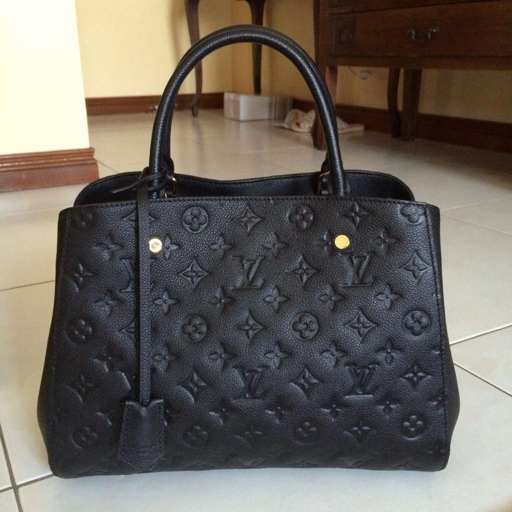 ae4df3b9 Montaigne MM in black empreinte #Louisvuittonhandbags | Louis ...