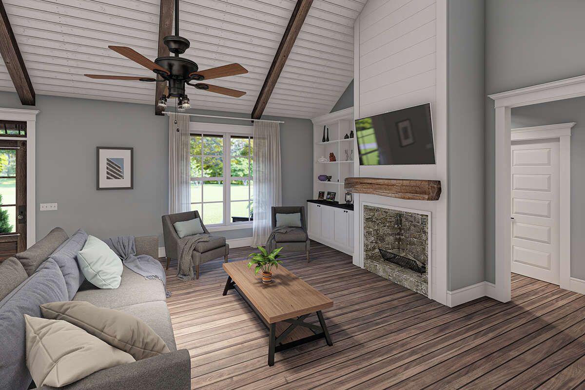 House Plan 00900288 Modern Farmhouse Plan 1,945 Square